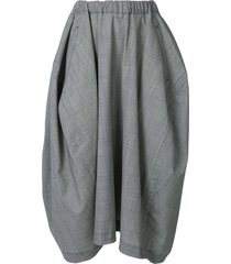 comme des garçons comme des garçons flared mid-length skirt - grey