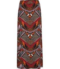 frdiafrica 2 skirt knälång kjol multi/mönstrad fransa