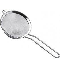peneira aã§o inox 12 cm top pratic brinox prata - prata - dafiti