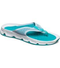 shoes rx break 4.0 w flip flops sandaler blå salomon