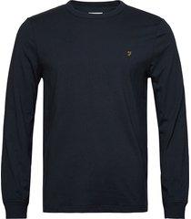 worth ls tee t-shirts long-sleeved blå farah