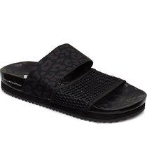stella-lette shoes summer shoes flat sandals svart adidas by stella mccartney
