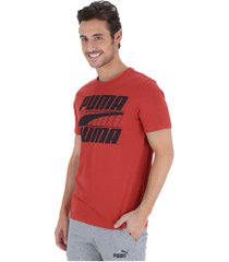 camiseta puma rebel basic - masculina - vermelho