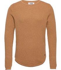 arnold stickad tröja m. rund krage brun just junkies