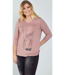 shirt sara lindholm roze::zwart