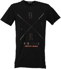 superdry stevig long fit zwart t-shirt