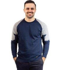 blusa de malha gola redonda sumaré masculina