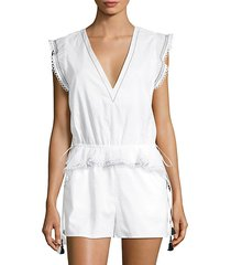 lian embroidered romper