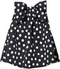 polka dot swing mini dress