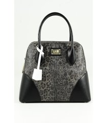 class roberto cavalli designer handbags, animal print eco-leather bowler bag