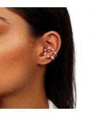 piercing kaka corrêa 7 cristais no banho de ouro 18k - feminino