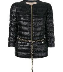 herno 3/4 sleeves padded jacket - black