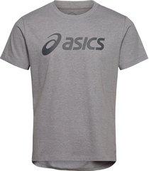 asics big logo tee t-shirts short-sleeved grå asics
