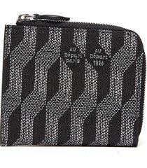 geometric pattern zip coin wallet