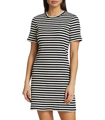 cherry stripe t-shirt dress