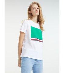 t-shirt manga corta blanco tommy hilfiger