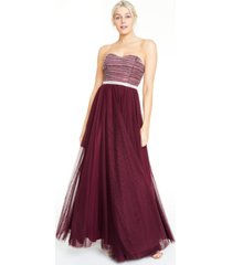 city studios juniors' beaded mesh gown
