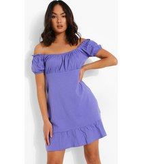 mini jurk met geplooide zoom, purple