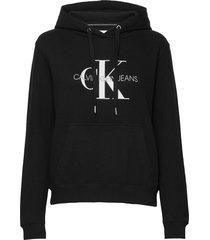 monogram relaxed sho hoodie svart calvin klein jeans