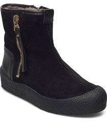 quebec gold zip shoes boots ankle boots ankle boot - flat svart canada snow
