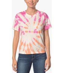hurley juniors' cotton tie-dyed girlfriend t-shirt