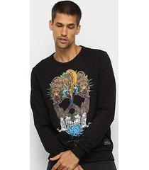 blusa moletom triton estampada masculina - masculino