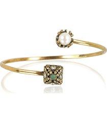 alcozer & j designer bracelets, pyramid and pearl bracelet w/gemstones