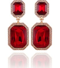 t tahari holiday sparkle drop clip earring