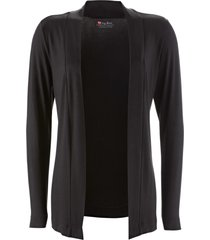 cardigan in jersey leggero (nero) - bpc bonprix collection