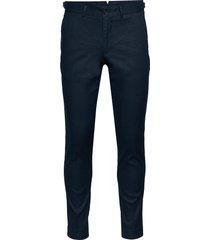grant-cotton linen stretch casual broek vrijetijdsbroek blauw j. lindeberg