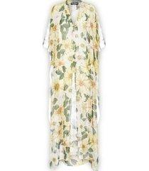dolce & gabbana camellias print silk caftan dress