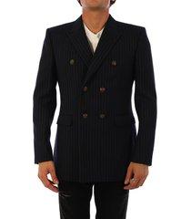 saint laurent wool jacket blue