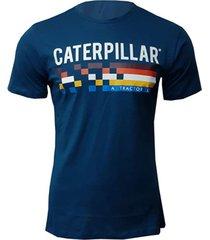 camiseta hombre retro race tee azul oscuro cat