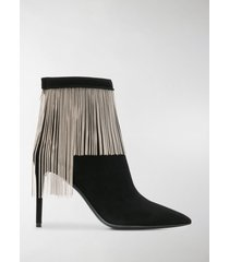 balmain mercy chain suede boots