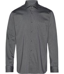 fine twill   california - regular fit skjorta business grå seven seas copenhagen