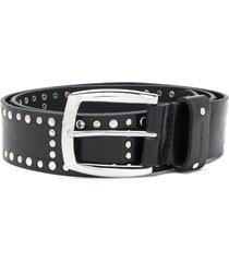 diesel round studded belt - black