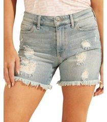 guess 1981 denim midi shorts