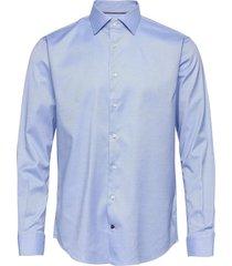core stretch oxford shirt skjorta business blå tommy hilfiger tailored