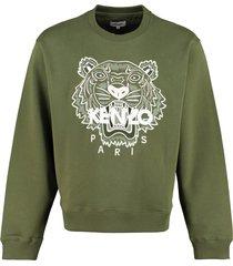kenzo logo detail cotton sweatshirt
