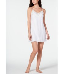 linea donatella caterina lace-trim printed chemise nightgown