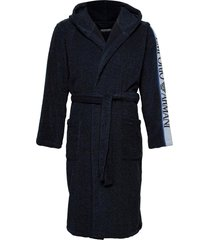 bathrobe morgonrock badrock blå emporio armani