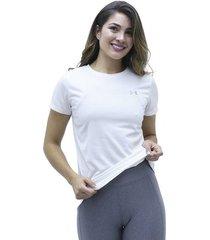 camiseta blanco under armour tech ssc - solid