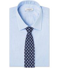 cravatta su misura, lanieri, paisley seta blu notte, quattro stagioni