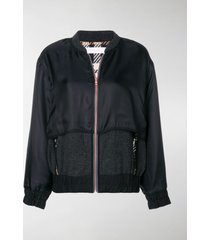 see by chloé contrast bomber jacket