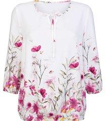 blus dress in vit::ljusrosa::rosa