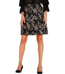 kjol med grafiskt mönster amy vermont svart::guldfärgad