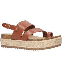 women's bella vita rosita slingback platform sandal, size 9 m - brown