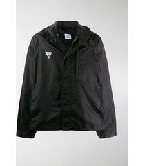 vetements logo print hooded jacket