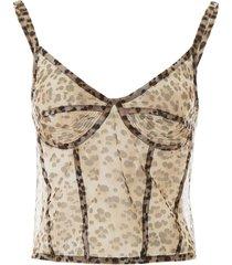 r13 leo lingerie top