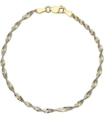 giani bernini butterfly link chain bracelet in 18k gold-plated sterling silver, created for macy's